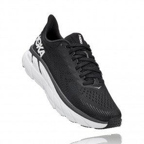 HOKA ONE ONE Clifton 7 BLACK / WHITE Femme