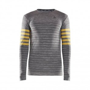 CRAFT Tee-Shirt Manches Longues Fuseknit Comfort Blocked Homme   Dk Greychine