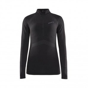 CRAFT Maillot Manches Longues Active Intensity Col Zippé Femme | Black / Asphalt