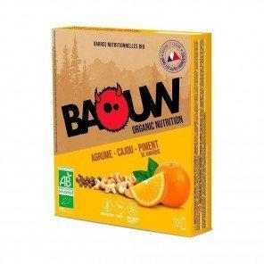 BAOUW Barres énergétiques bio   Agrume - Cajou - Piment de Jamaique   Pack de 3