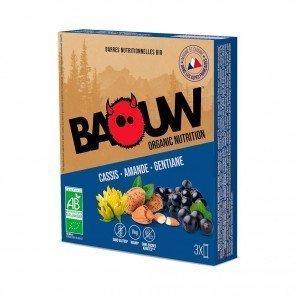 BAOUW Barres énergétiques bio   Cassis - Amande - Gentiane   Pack de 3
