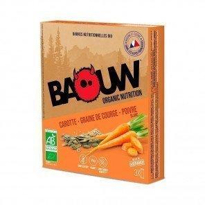 BAOUW Barres énergétiques bio   Carotte - Graine de courge - Poivre Blanc   Pack de 3