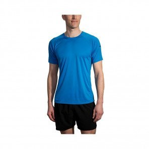 BROOKS TEE-SHIRT MANCHES COURTES STEALTH HOMME   AZUL
