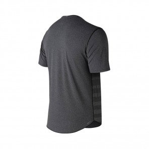 NEW BALANCE Tee-Shirt manches courtes Q SPEED JACQUARD Homme   Black Heather