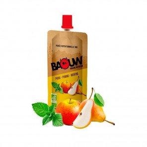 BAOUW Purée et compotes énergétiques bio   Poire - Pomme - Menthe   Pack de 20